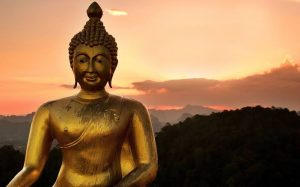 Golden Satue of Lord Buddha HD Images