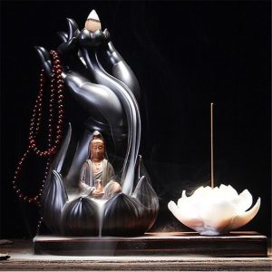 Lord Buddha Beautiful Original Images with Backflow Incense Holder